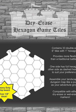 Role 4 Initiative Dungeon Tiles: Dry-Erase White: Pack of Thirty-Three 6-inch Hexagon Tiles