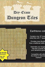 Role 4 Initiative Dungeon Tiles: Dry-Erase Earthtone: Pack of Nine 10-inch Square Tiles