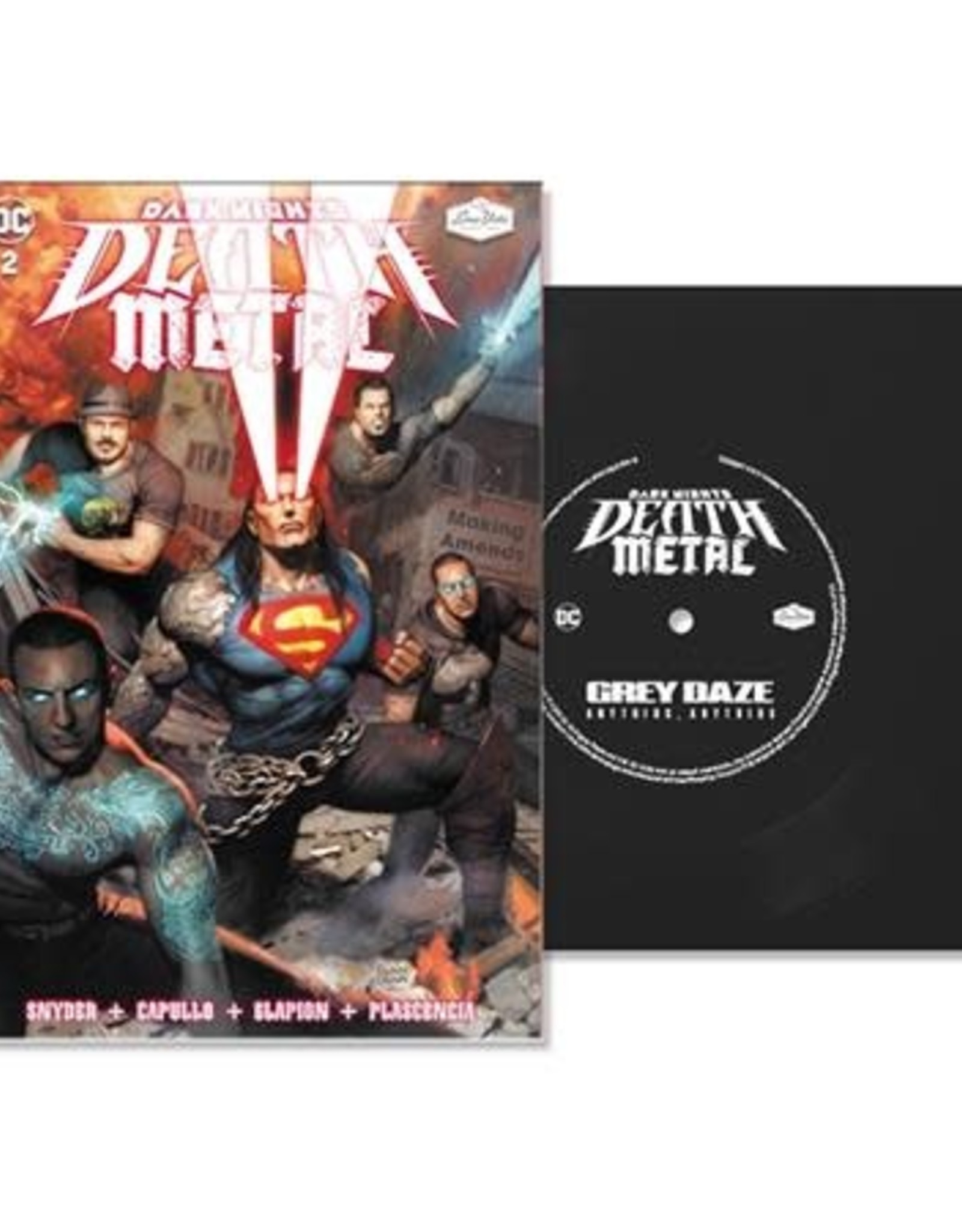 DC Comics Dark Nights Death Metal #2 Soundtrack Spec ED Grey Daze With Flexi Single Featuring Anything, Anything