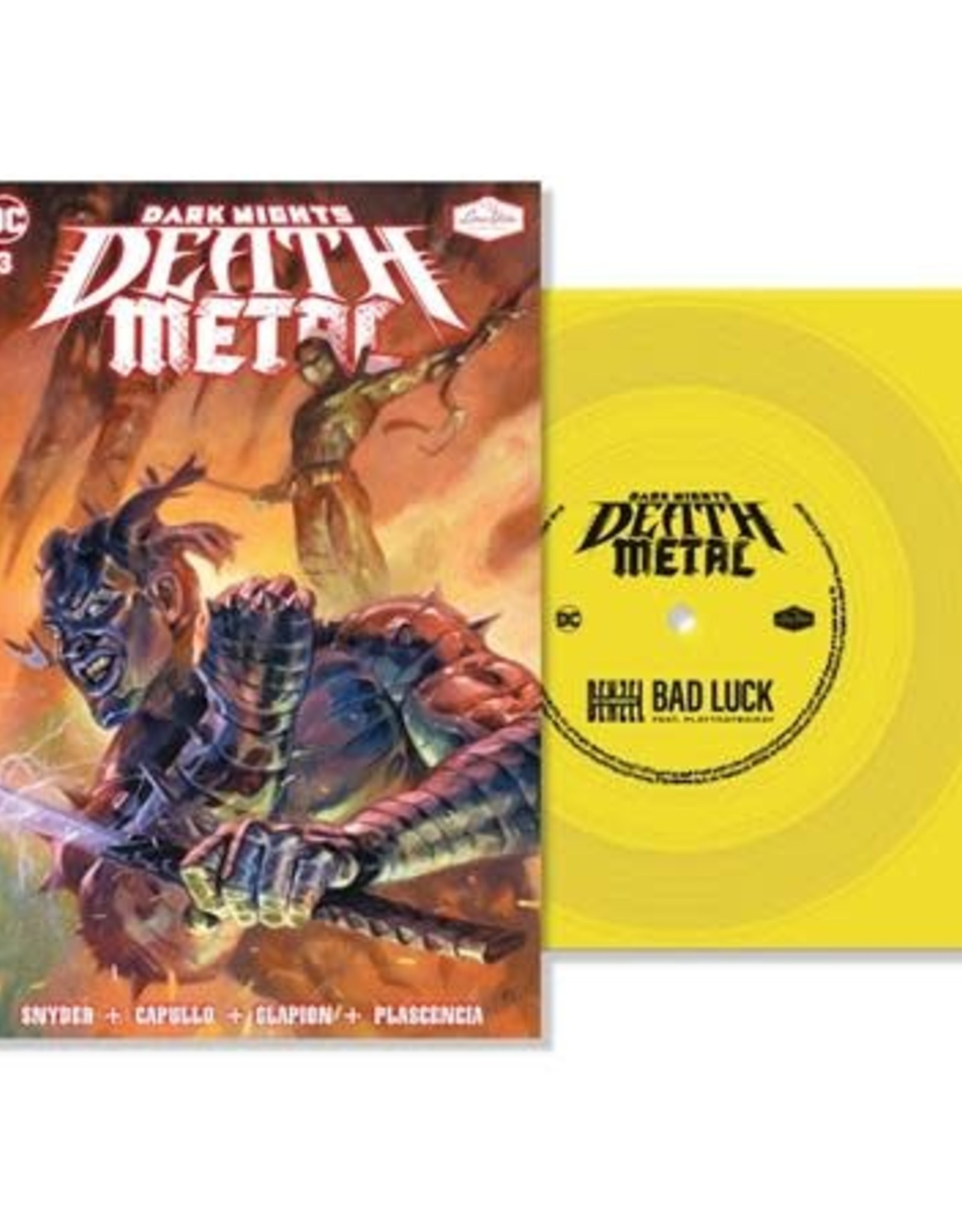 DC Comics Dark Nights Death Metal #3 Soundtrack Spec ED Denzel Curry With Flexi Single Featuring Bad Luck