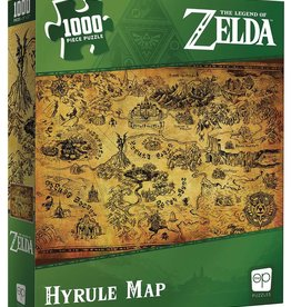 Usaopoly Zelda Hyrule Map 1000 Pc Puzzle