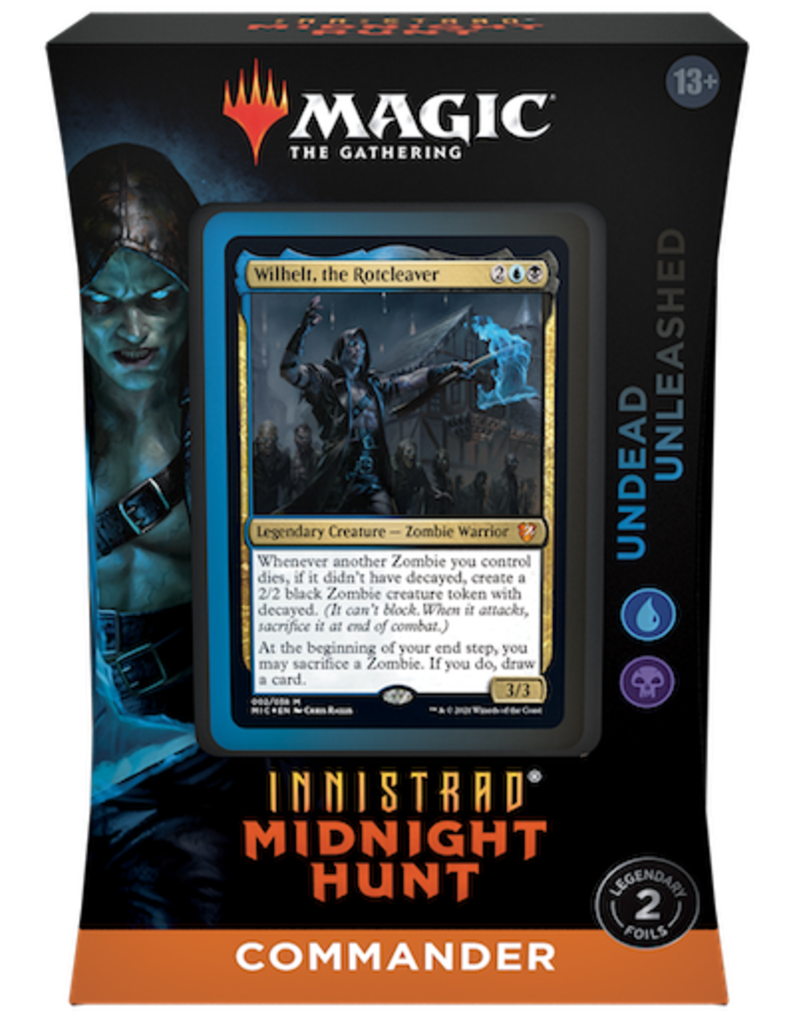 Wizards of the Coast Magic the Gathering: Innistrad Midnight Hunt Commander Undead Unleashed