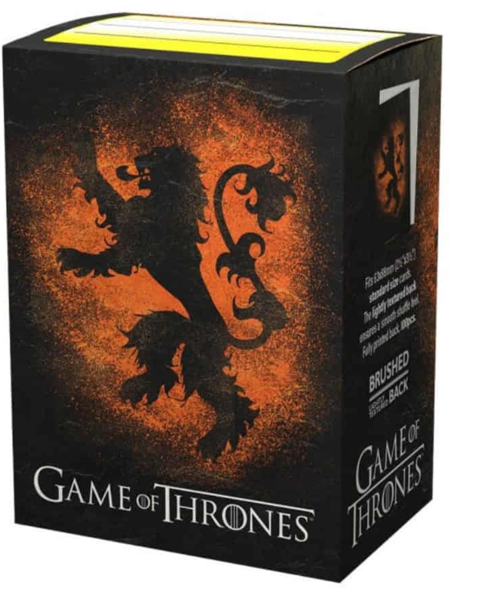 Arcane Tinmen Dragon Shield (100) Brushed Art GOT House Lannister