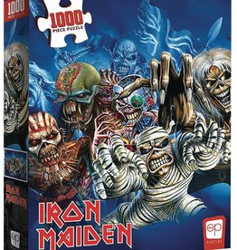 Usaopoly Iron Maiden Faces Of Eddie 1000 Pc Puzzle