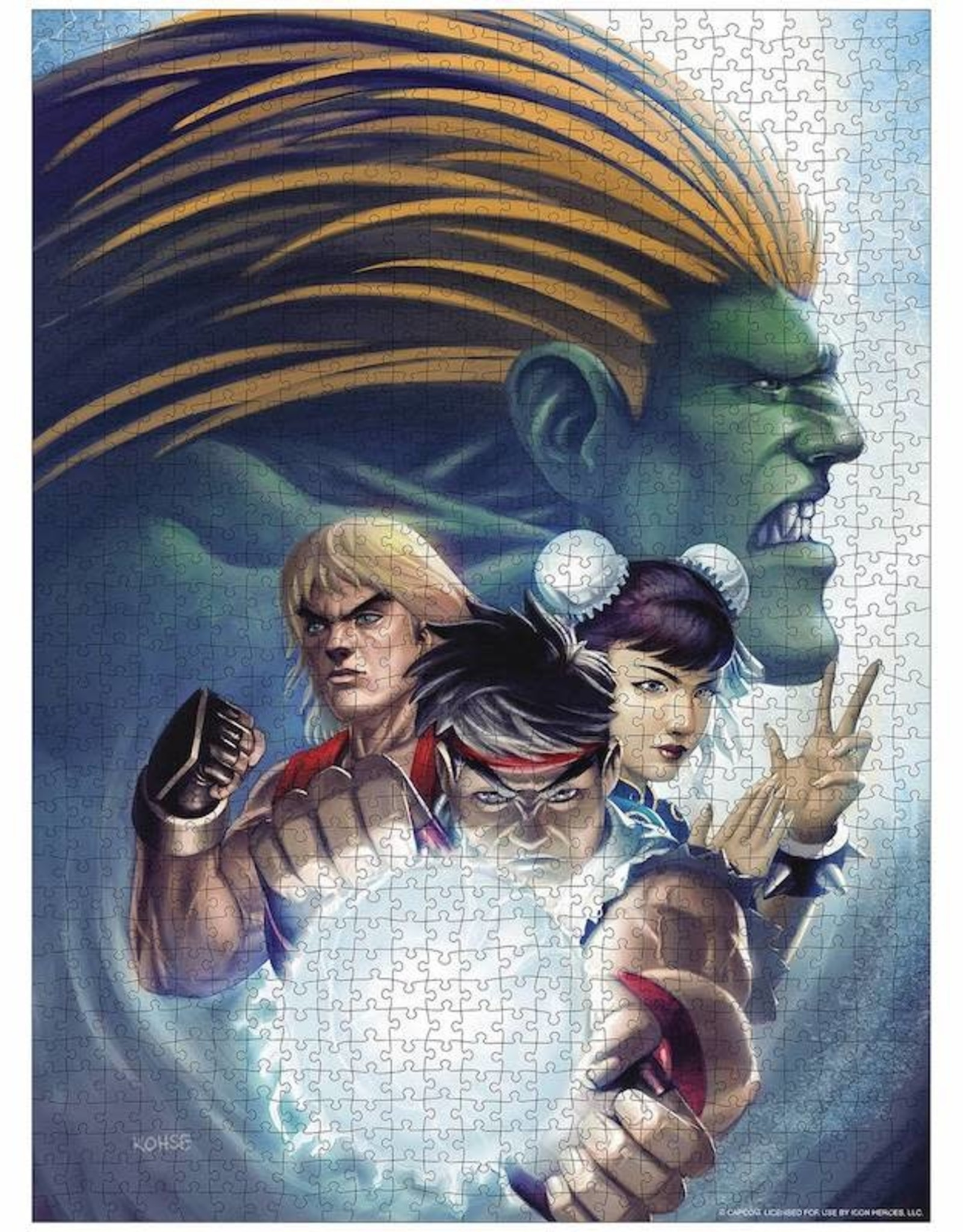 Icon Heroes Street Fighter Jigsaw Puzzle by Lee Kohse