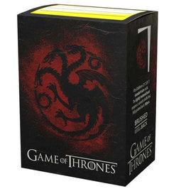 Arcane Tinmen Dragon Shield (100) Brushed Art GOT House Targaryen