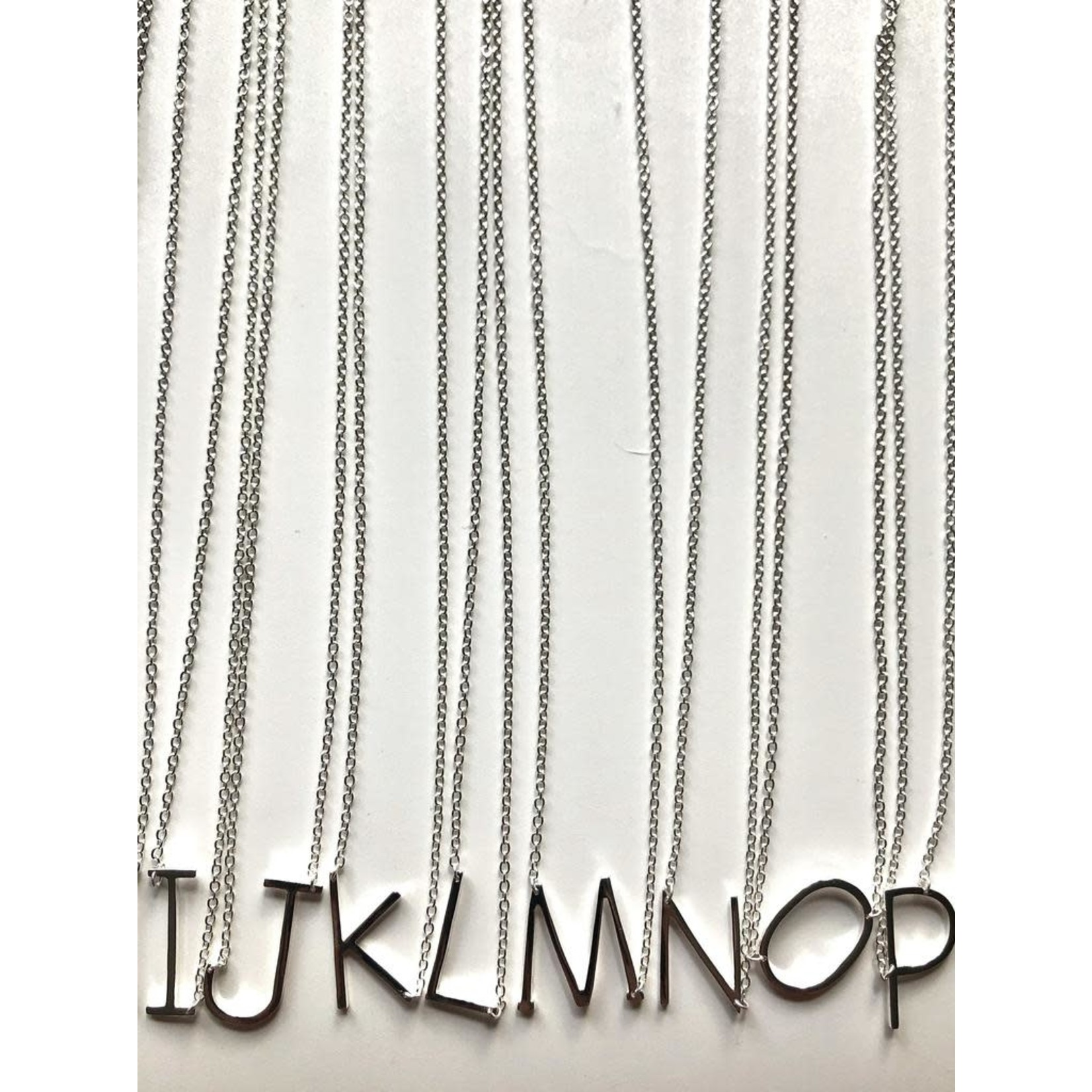 MIsc Sterling Silver Initial Necklace