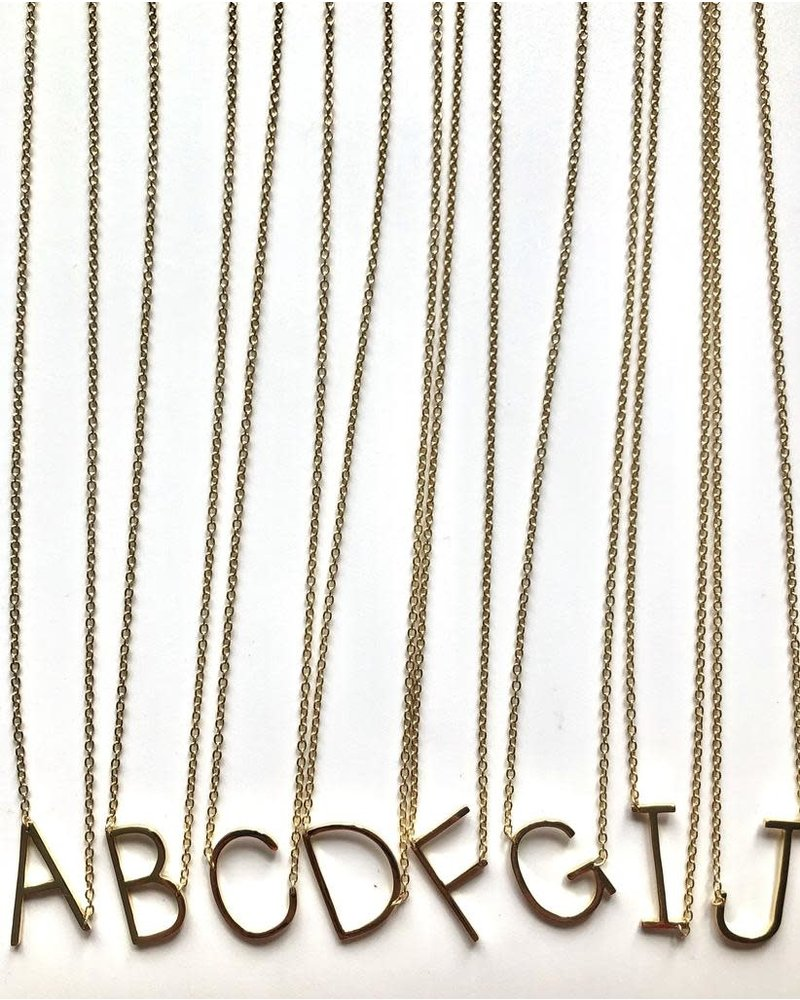 MIsc Gold Plate Initial Necklace
