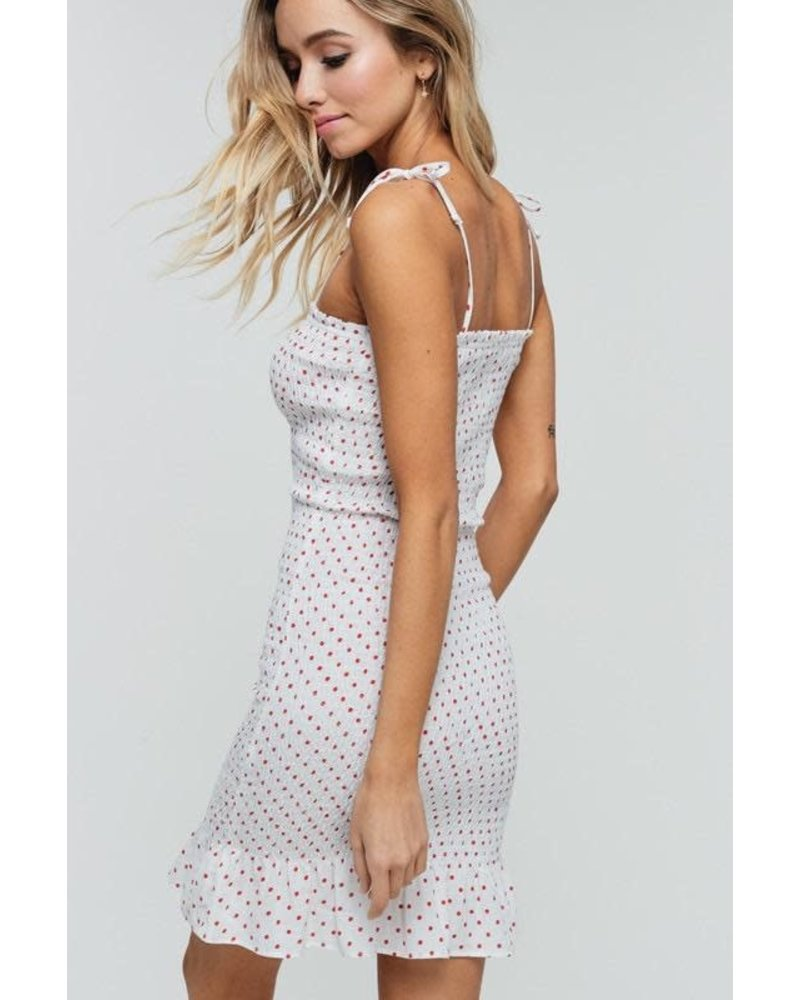 EM & ELLE Blake Smocked Polka Dot Dress