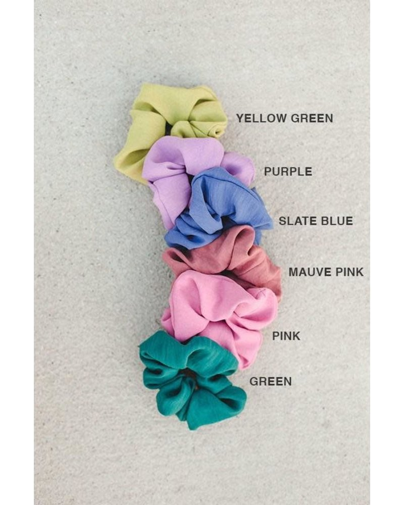 EM & ELLE Solid Color Scrunchie
