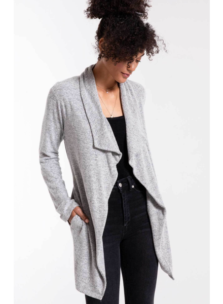 Z Supply The Marled Wrap Front Cardigan