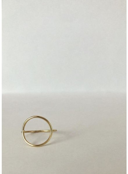 EM & ELLE Gold Plated Circle Ring