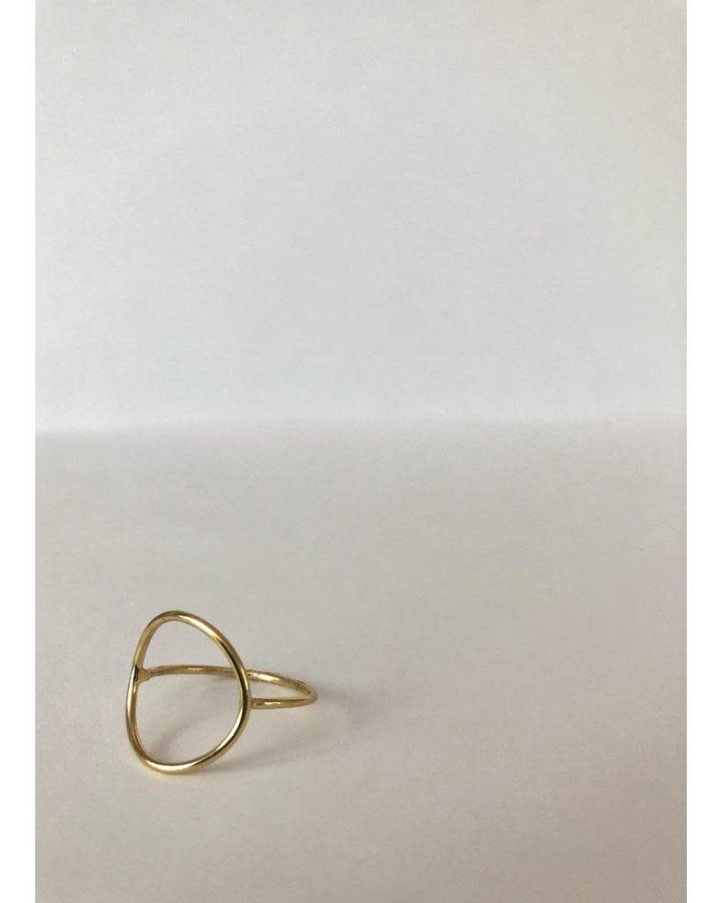 EM & ELLE Gold Plated Circle Ring