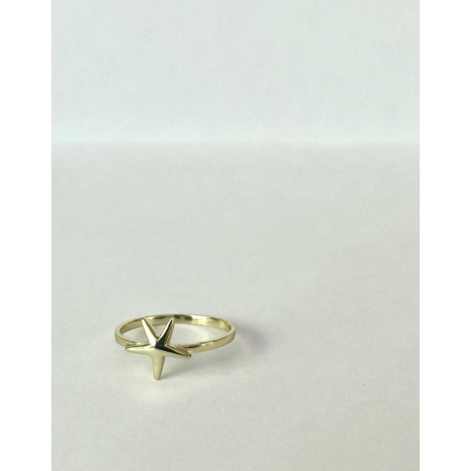 EM & ELLE Gold Plated Starfish Ring