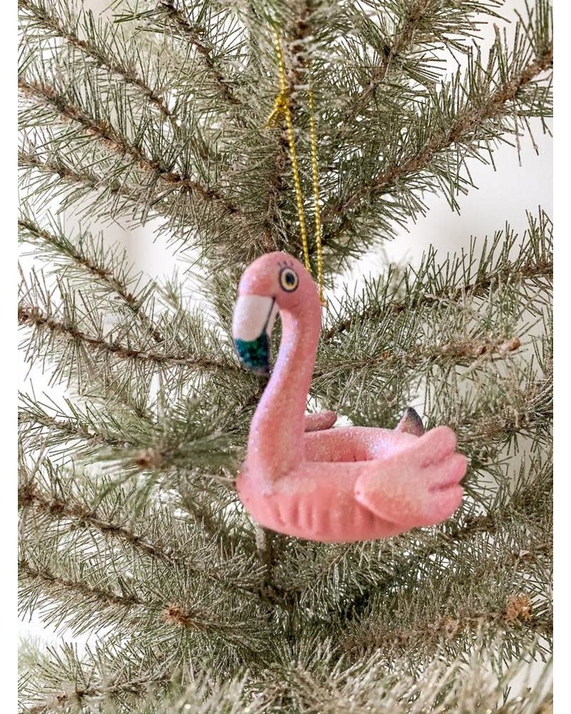 Kurt Adler Flamingo Pool Float Ornament