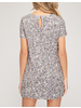 EM & ELLE All That Glitters Mini Dress