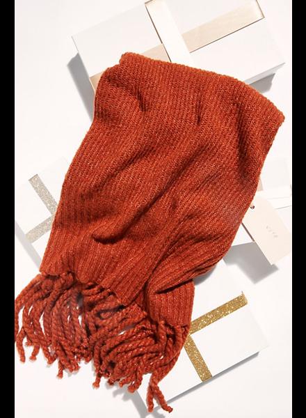 Free People Jaden Ribbed Blanket Scarf SC