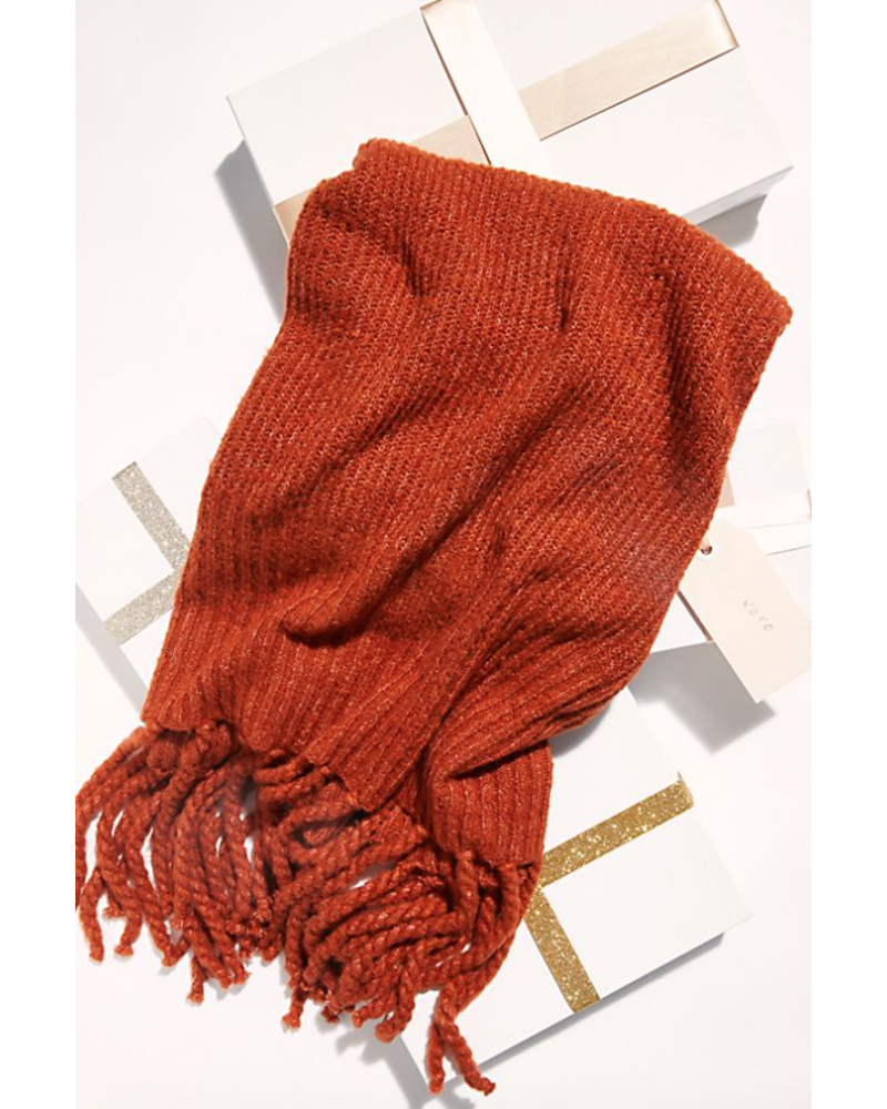 Free People Jaden Ribbed Blanket Scarf SC