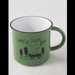 Natural Life Let's Just Go Camp Mug