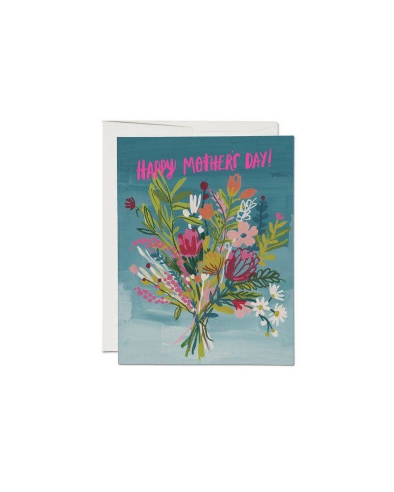 Red Cap Cards Neon Pink Mothers Card