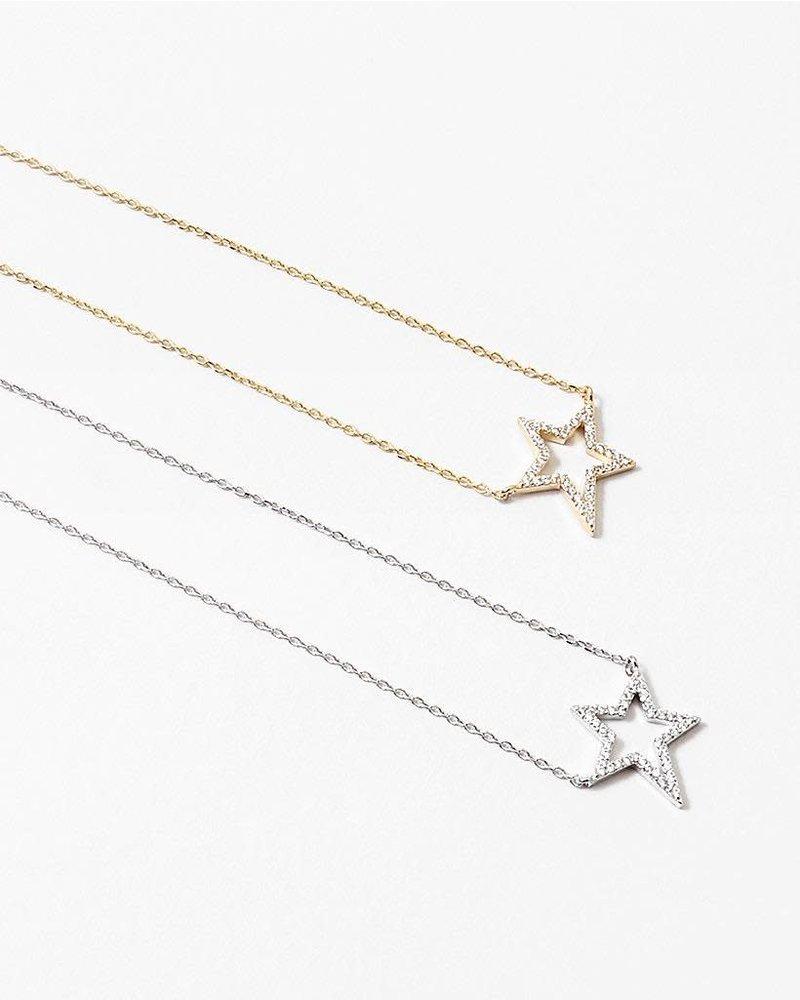 EM & ELLE Rhinestone Star Necklace