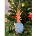 One Hundred 80 Degrees Blue Pineapple Ornament