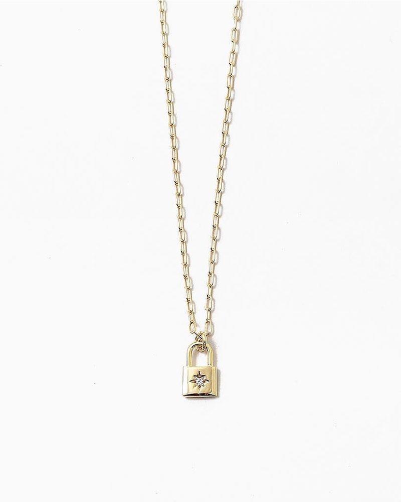 EM & ELLE Starburst Lock Necklace