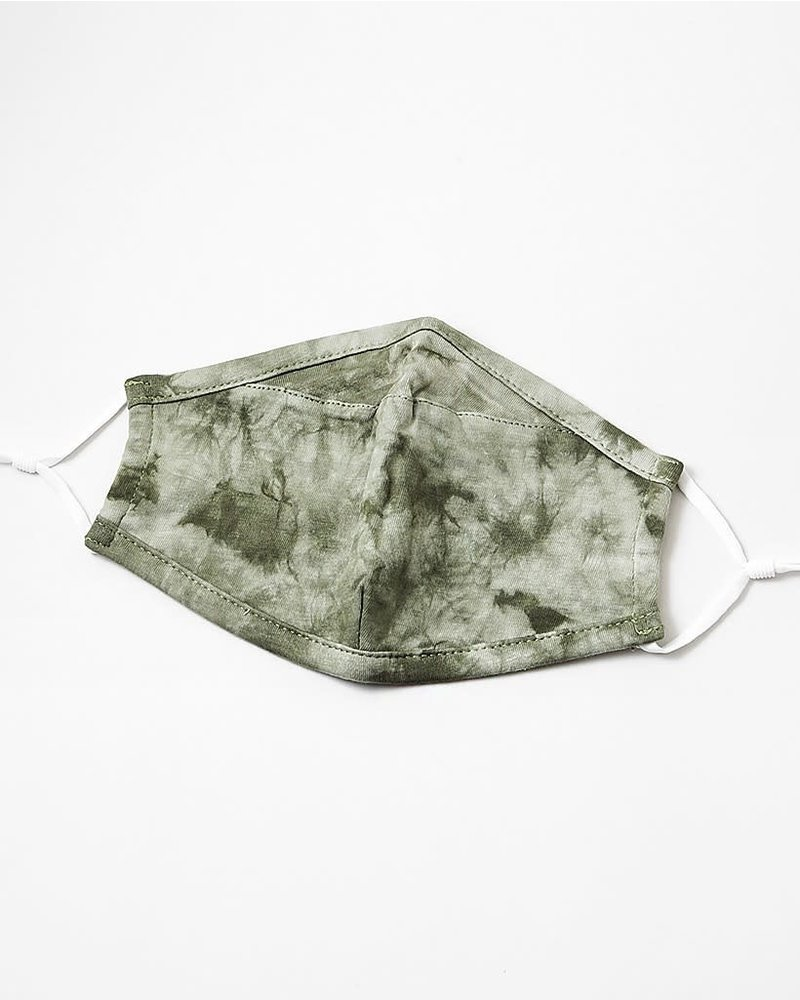 EM & ELLE Olive Green Tie Dye Mask