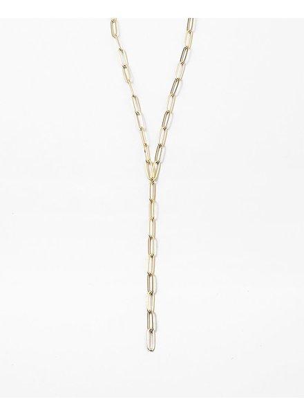 EM & ELLE Gold Link Y Necklace