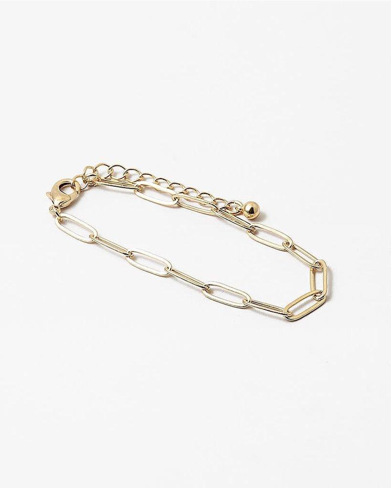 EM & ELLE Paper Clip Bracelet