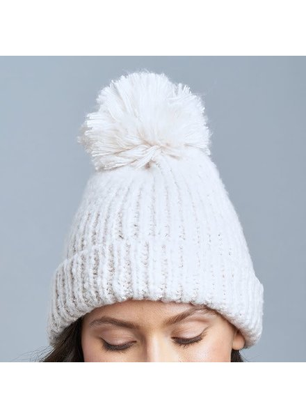 Lemon Snow Storm Hat with Pom