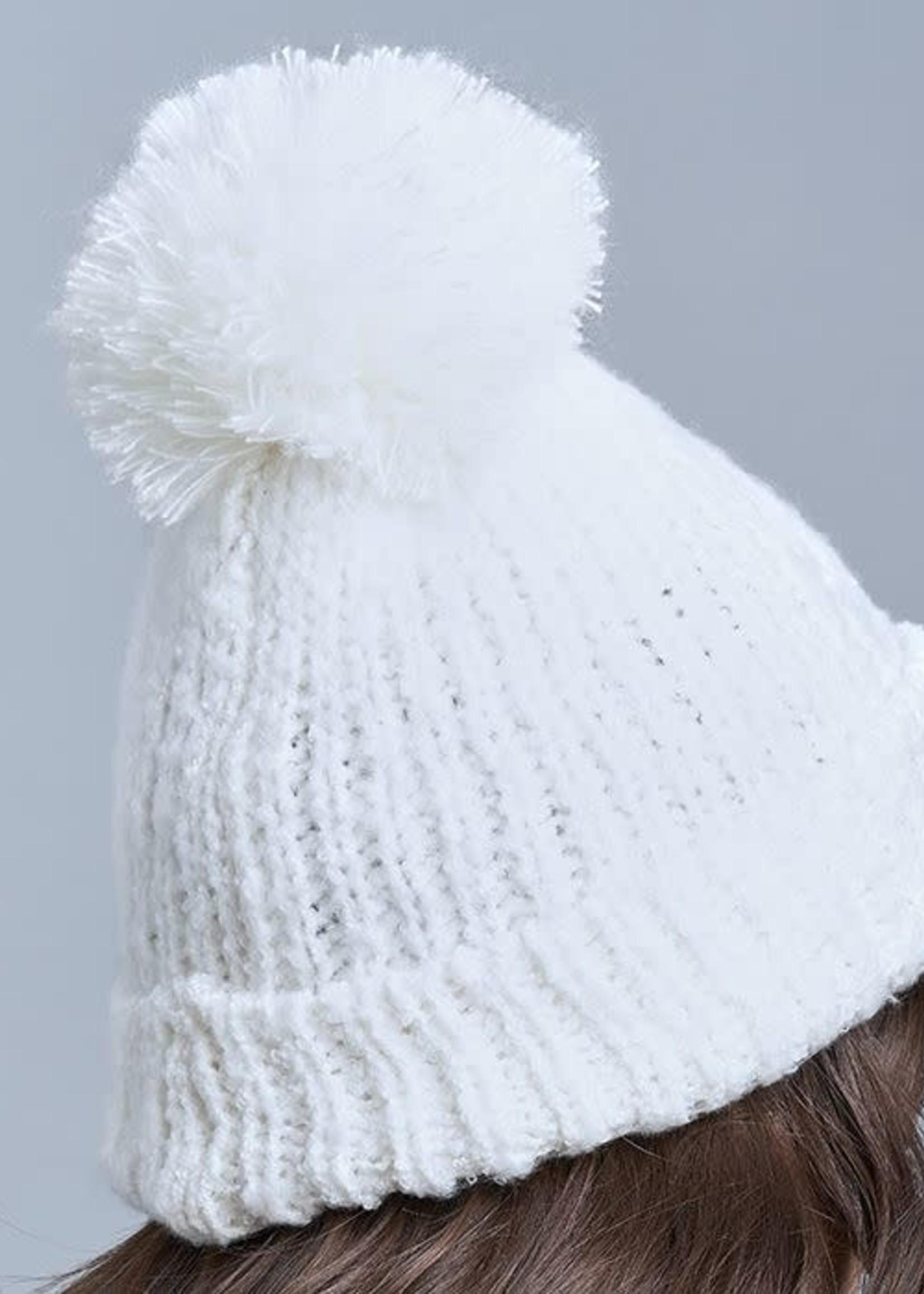Lemon Snow Storm Hat with Pom