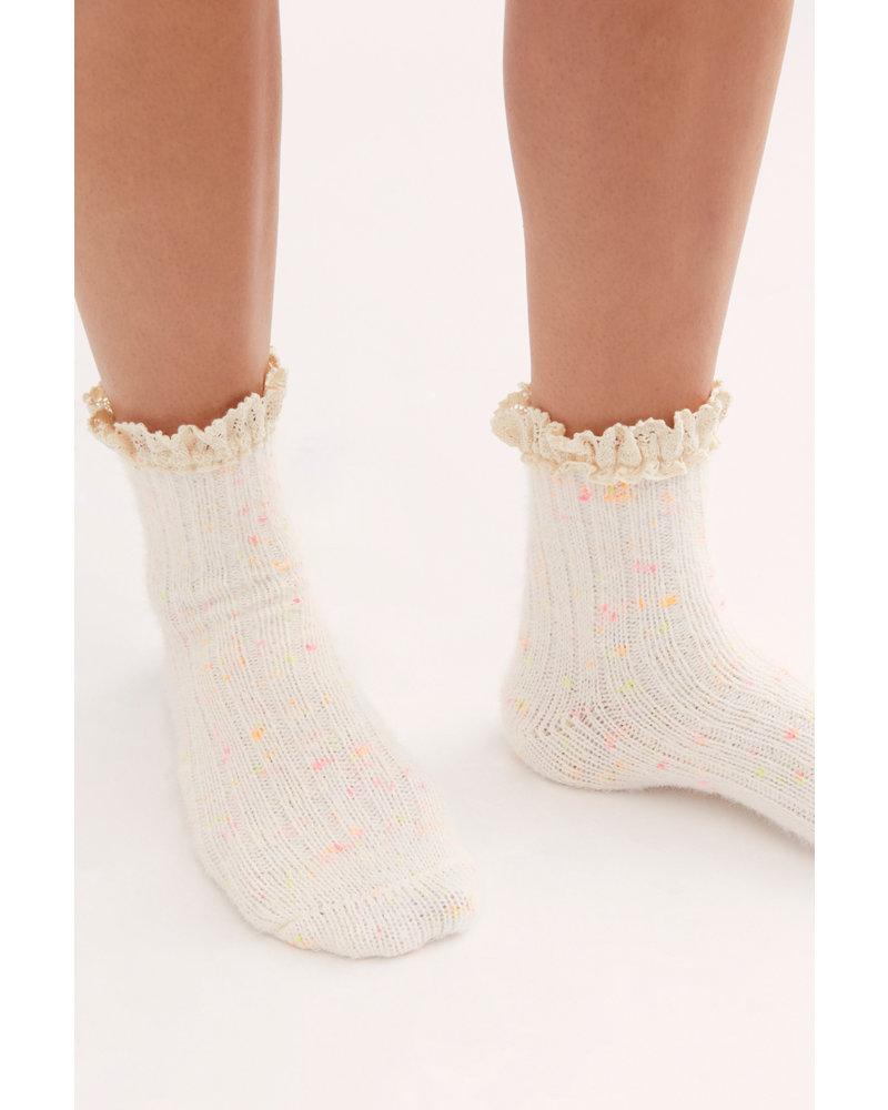 Free People Firecracker Flecked Ruffle Sock