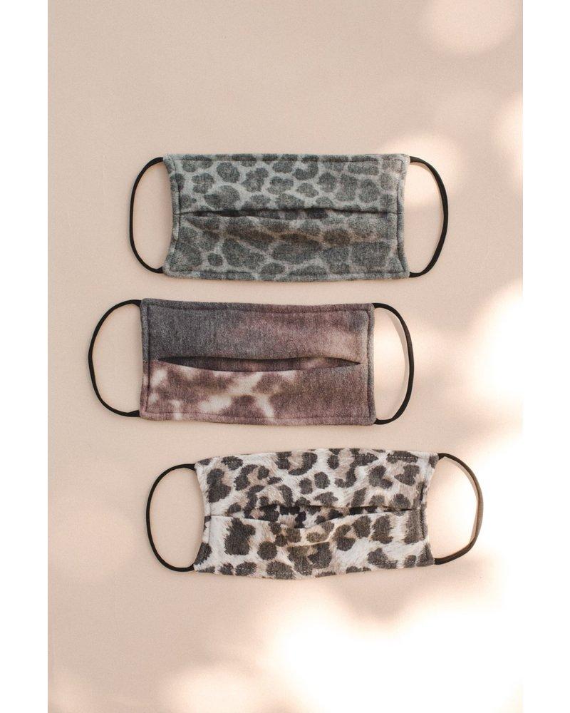 EM & ELLE Cotton Fall Mask Leopard