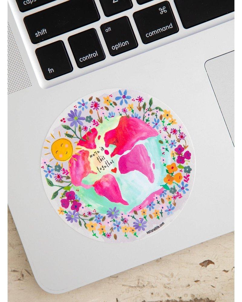 Natural Life Together Vinyl Sticker