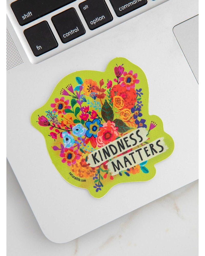 Natural Life Kindness Matters Vinyl Sticker