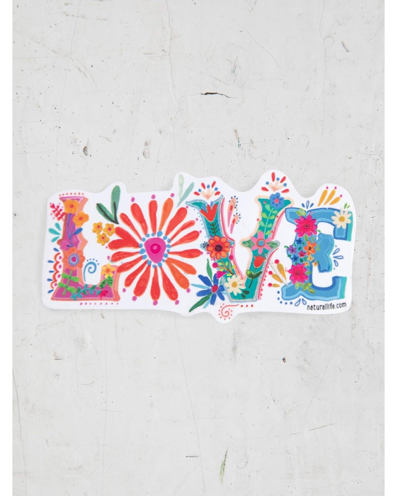 Natural Life Love Vinyl Sticker