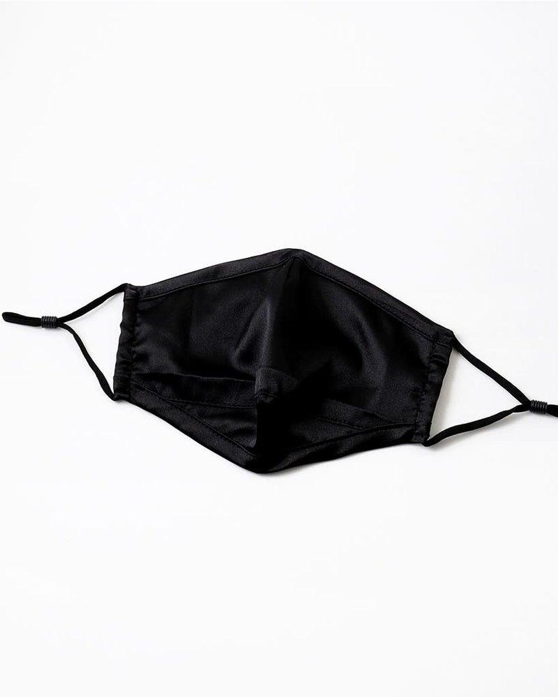 EM & ELLE Black Satin Mask