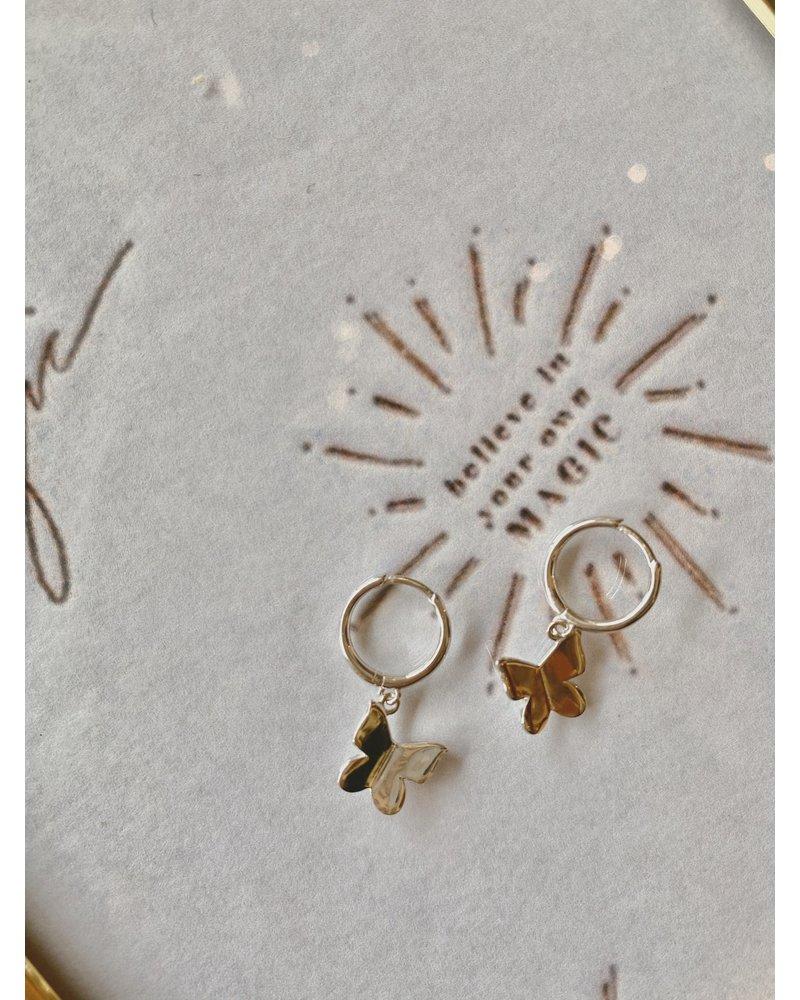 EM & ELLE Butterfly Mini Hoops