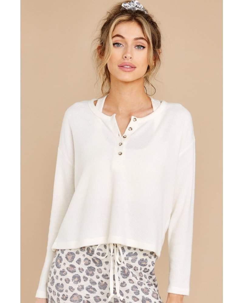 Z Supply Aimee Henley Ribbed Top