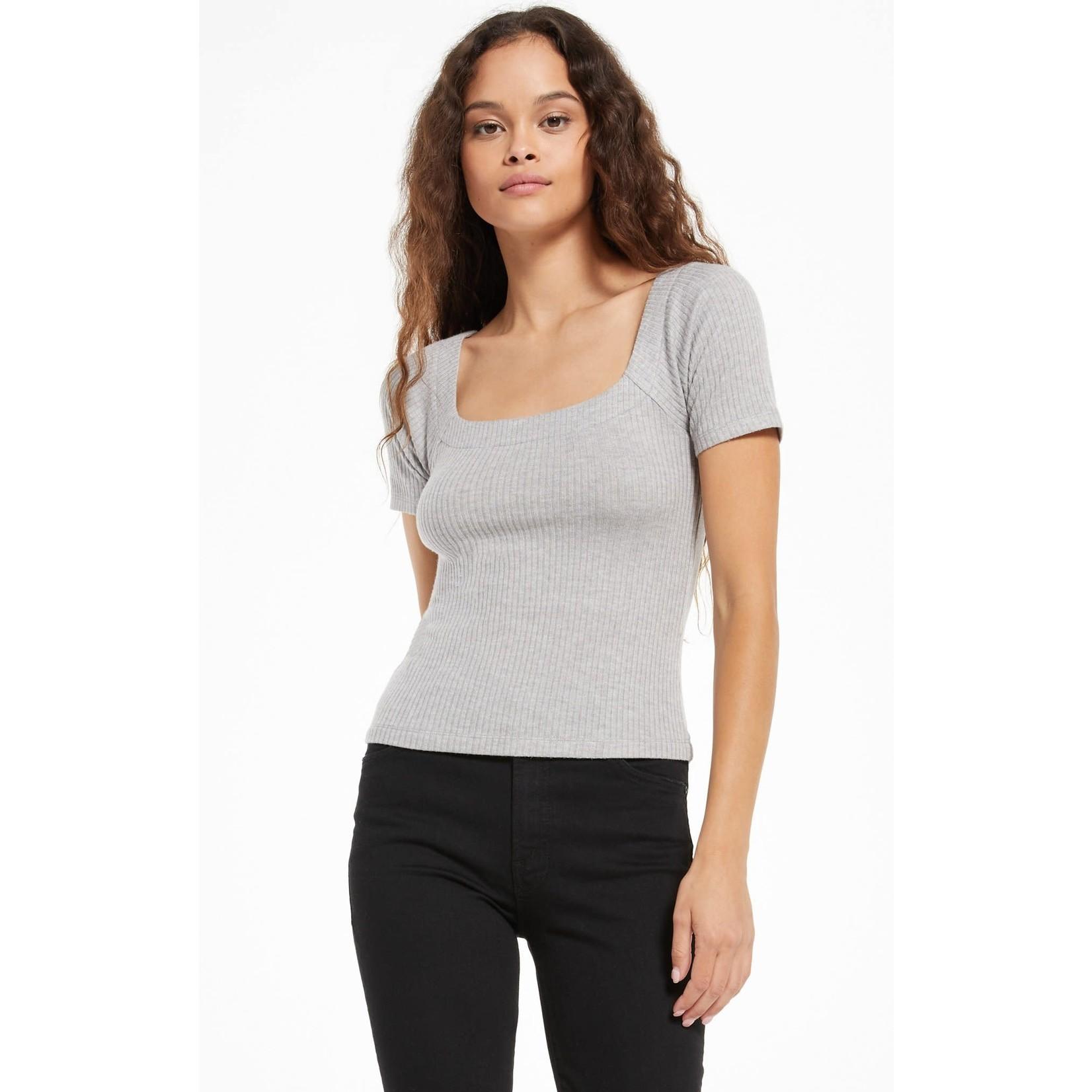 Z Supply Lyla Rib Short Sleeve Top