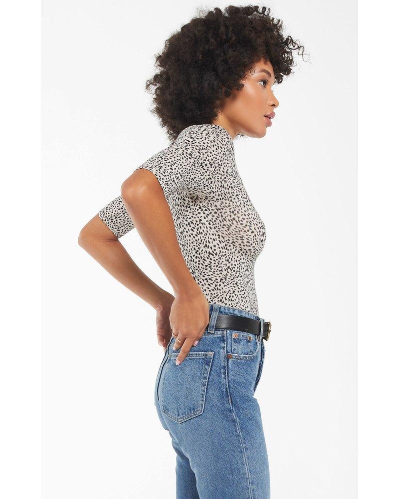 Z Supply Cara Mini Leopard Bodysuit