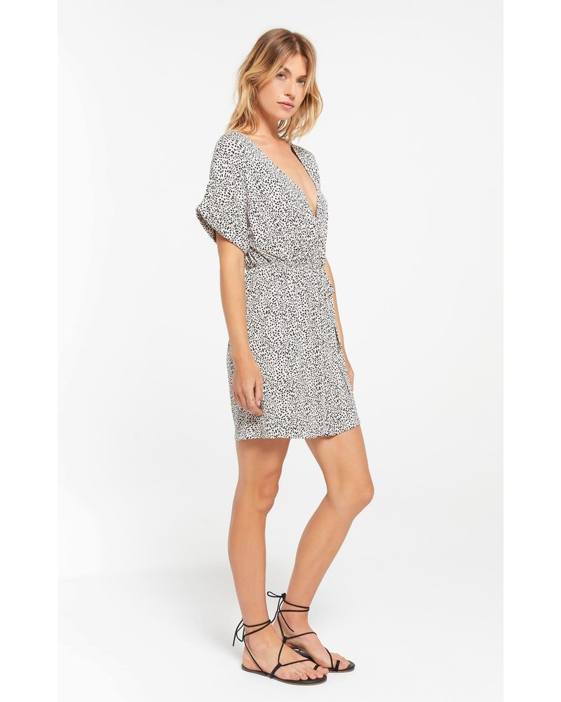 Z Supply Torre Mini Leopard Wrap Dress