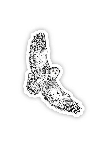 Big Moods White Owl Sticker