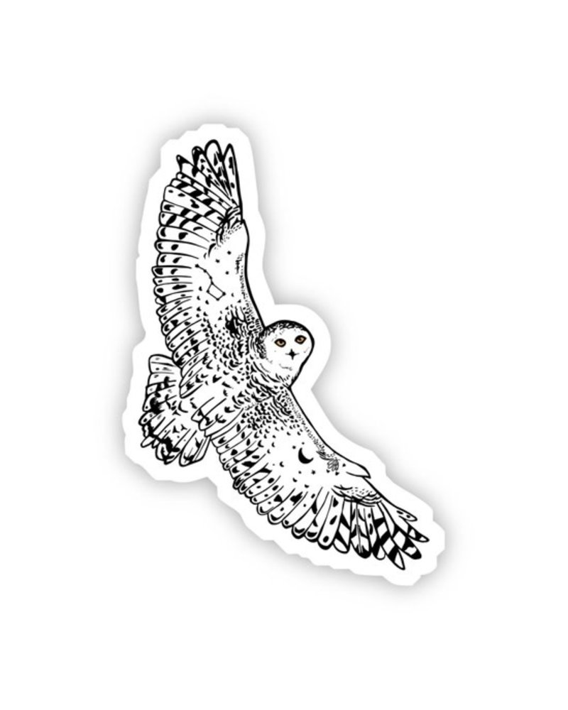 Big Moods White Owl Sticker