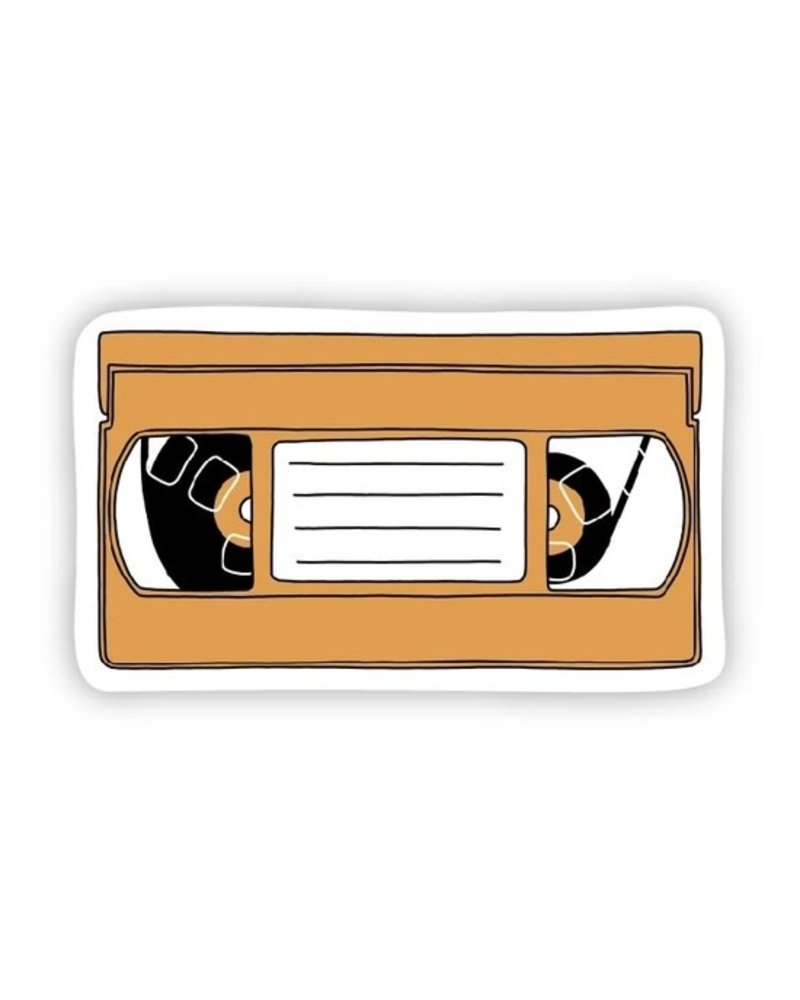 Big Moods Orange VHS Sticker