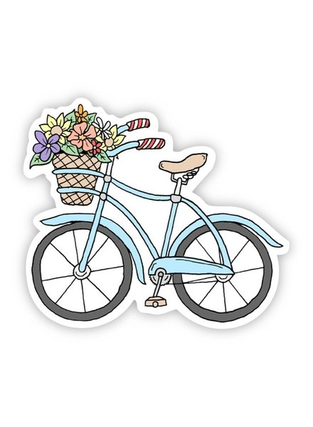 Big Moods Blue Bicycle Sticker Summer Vibes