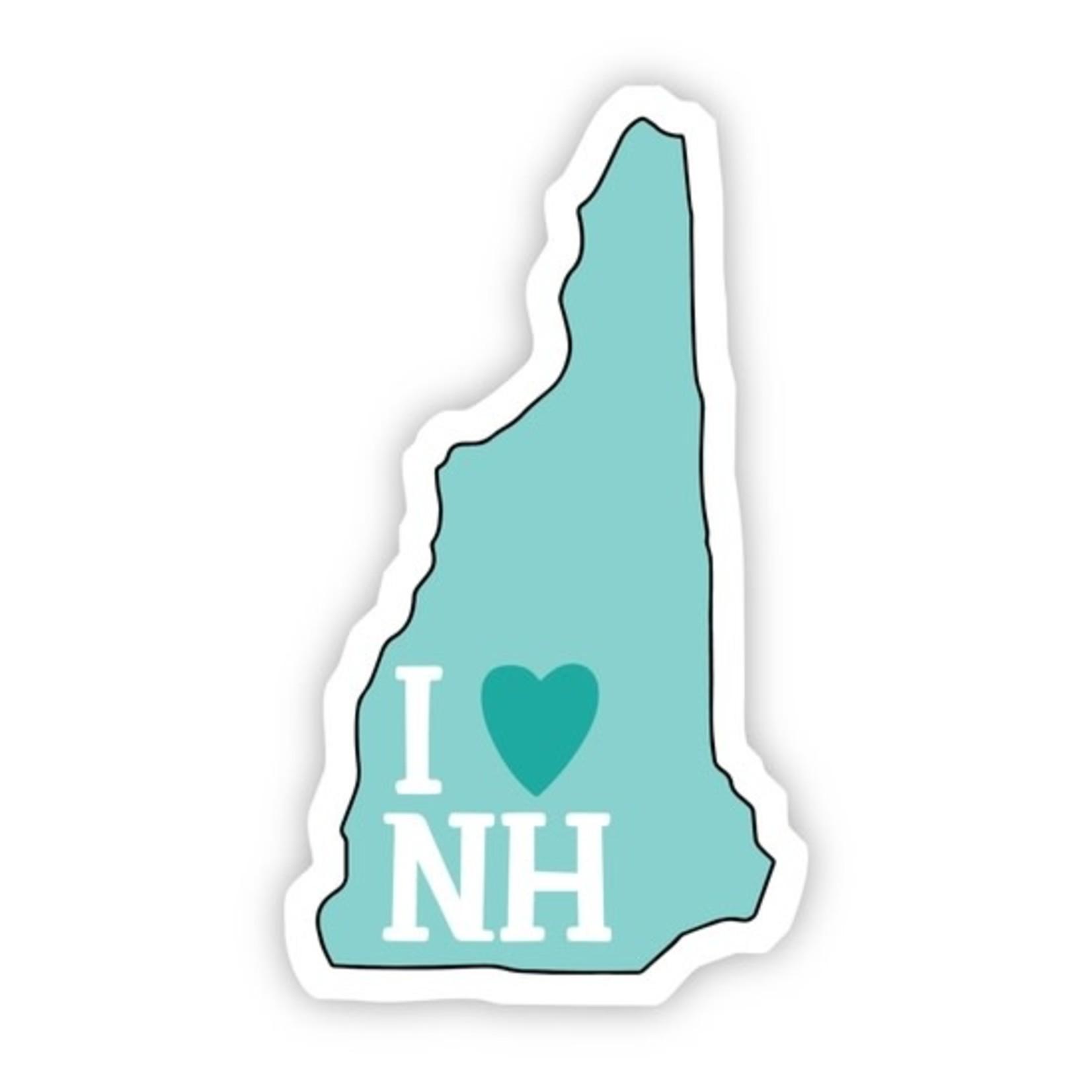 Big Moods I Love New Hampshire Teal Sticker