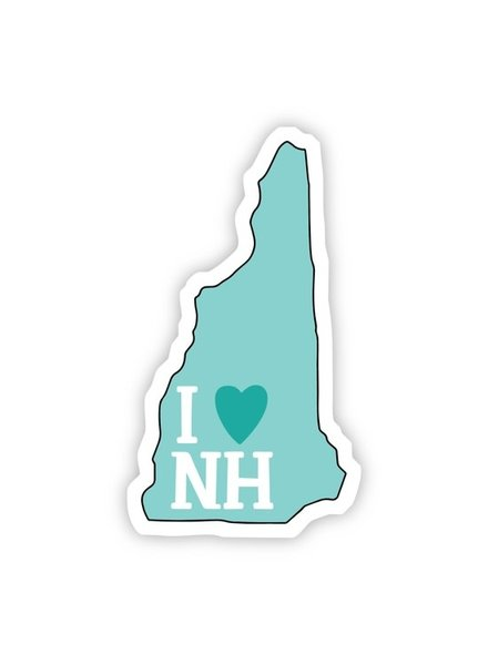 Big Moods I Love New Hampshire Teal Sticker
