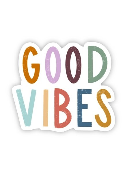 Big Moods Good Vibes Multicolor Lettering Sticker